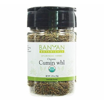 Banyan Botanicals Cumin Whole - Certified Organic, Spice Jar - Cuminum cyminum - Common cooking spice that promotes healthy digestion