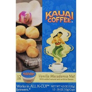 Kauai Coffee Vanilla Macadamia Nut Single-Serve Cups, 12 Count