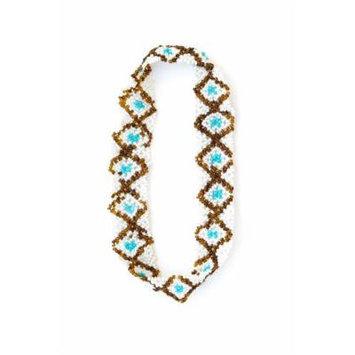 Sizzle City Custom Bling Rhinestone Bohemian Pattern Seed Bead Elastic Stretch Headbands (Native American Seed Bead Headband Style M)