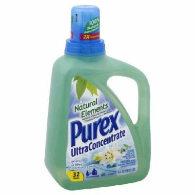 Purex Ultra Concentrate Natural Elements Laundry Detergent, Linen & Lilies 50oz.