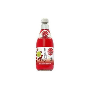 GUS Soda Dry Cranberry Lime 12 Oz (24 Pack)