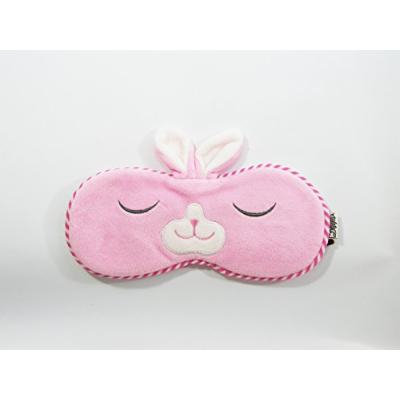 Eye Mask Shades Blindfold Sleeping Warm Cold Gel Pack Travel Comfortable Night's Bestever (Rabbit-Pink)