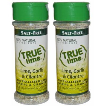 True Lime Garlic & Cilantro Seasoning 2.29oz (2 pack) Garlic Salt with hint of lime and cilantro all Natural Ingredients, No Salt, Gluten Free.