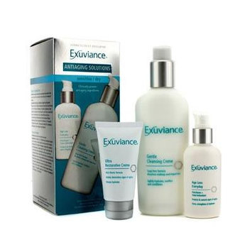 Exuviance Antiaging Solutions Kit (Sensitive/ Dry): Gentle Cleansing Creme + Age Less Everday + Ultra Restorative Creme 3Pcs by Exuviance