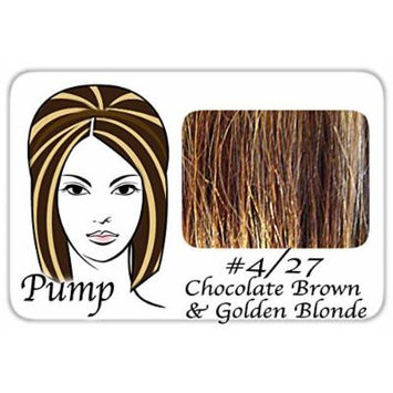 ProExtensions Pro Pump Clip-in Hair Extensions - Tease With Ease (#4/27 Chocolate Brown w/ Golden Blonde Hilights)