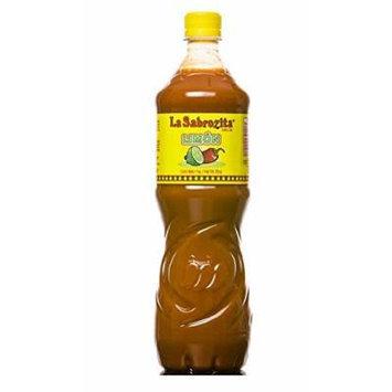 La Sabrozita Hot Sauce with Lime, 35-ounce Bottles