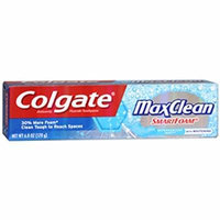 Colgate MaxClean with Smart Foam Effervescent Mint Fluoride Toothpaste 6 oz Pack of 4