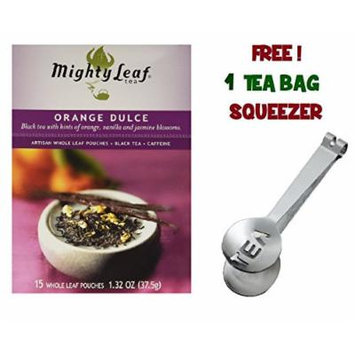 Mighty Leaf Tea , Orange Dulce ,(with FREE Tea Bag Squeezer) (1 Pack)