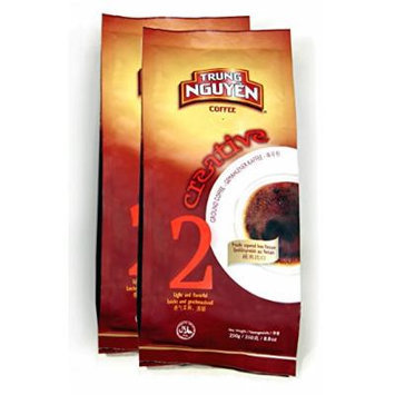 Trung Nguyen Creative 2 Arabica Robusta Ground Coffee, 2-Pack