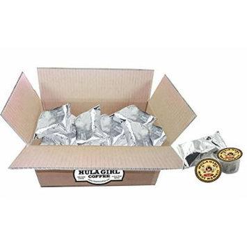 Hula Girl 100% Kona Coffee Single Serve cup K-Cup compatable 17 Pack
