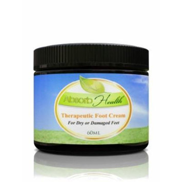 Therapeutic Foot Cream , 2oz , Natural Ingredients Designed to Penetrate and Soothe Damaged Feet