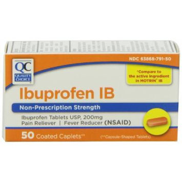 Quality Choice Ibuprofen Ib 200mg. Caplets 50 Count, Boxes (Pack of 6)
