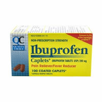 Quality Choice Ibuprofen 200mg. , 100 Caplet Boxes, (Pack of 4)