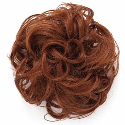 Onedor Synthetic Messy Hair Bun Extension Chignon Hair Piece Wig (30#-Reddish Brown)