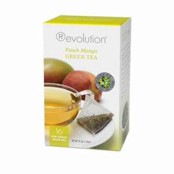Revolution - Peach Mango Green Tea - 16 Bag (6 Pack)