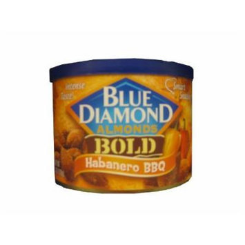 2 Cans Blue Diamond Almonds BOLD Habanero BBQ 6 Oz