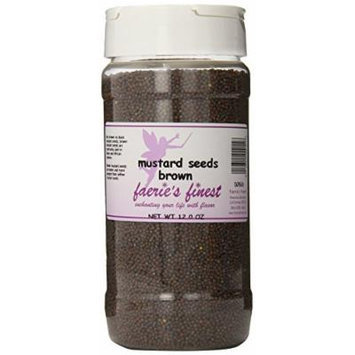 Faeries Finest Mustard Seeds, Brown, 12 Ounce