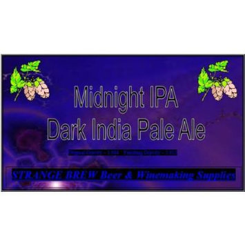 Midnight IPA 5 Gallon Beer Making Ingredient Kit By Strange Brew Home-brew
