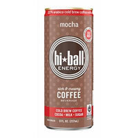 Hiball Energy Cold Brew Coffee Beverage, Mocha, 12 Count