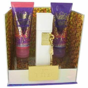 The Key By Justin Bieber for Women Gift Set: 3.4 Oz Eau De Parfum Spray + 3.4 Oz Body Lotion + 3.4 Oz Shower Gel