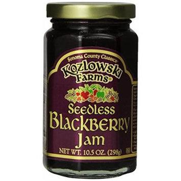 Kozlowski Farms Jam, Seedless Blackberry, 10.5-Ounce (Pack of 6)