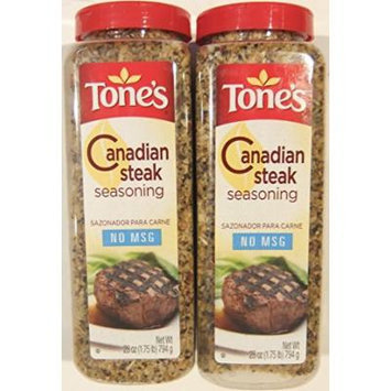 Tone's Canadian Steak Seasoning 28 Ounce Shaker (Pack of 2)