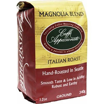 Caffe Appassionato Magnolia Blend Ground Coffee, 12-Ounce Bag (Pack of 3)