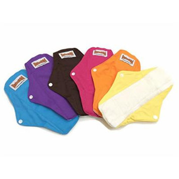 4 BubuBibi Maxi Night Bamboo Mama Cloths Menstrual Reusable Sanitary Liner Pads (Mixture (Any 4 of the 6 Colors))