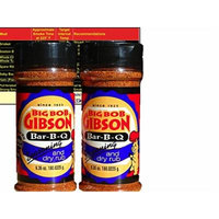 Big Bob Gibson Bar-B-Que BBQ Seasoning Dry Rub 6.35 oz (Two Bottles) with Complimentary Miniature Meat Smoking Guide Magnet
