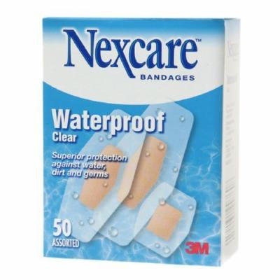 Nexcare Waterproof Clear Bandage, Assorted Sizes 50 ea Pack of 4