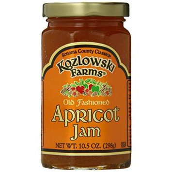 Kozlowski Farms Jam, Apricot, 10.5-Ounce (Pack of 6)