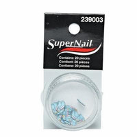 Supernail Nail Art, Blue Bird, 20 Count