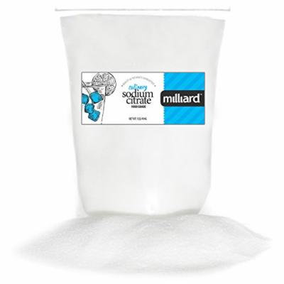 Milliard Sodium Citrate - Vegan, Gluten-Free, Non-GMO, Fine Crystalline Powder for Cheese Sauce, Spherification, and More - 1 Pound