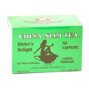 China Slim Tea Super Slim Dieter's Delight All Natural 16 Tea Bags 1.13oz (32g)