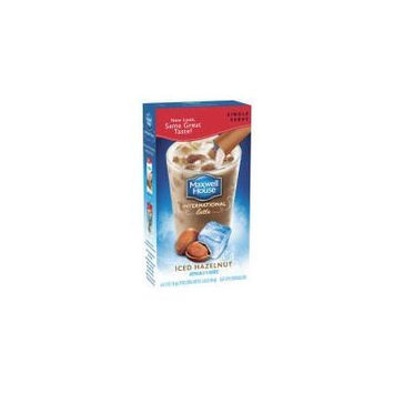 Maxwell House International Cafe Iced Latte Cafe-style Beverage Mix 6 Single Serve Packets Hazelnut (3 Pack)