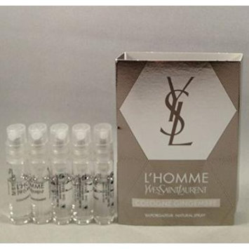 5 YSL Yves Saint Laurent L'homme EDT Spray Vial Travel Sample .05 Oz/1.5 Ml Lot