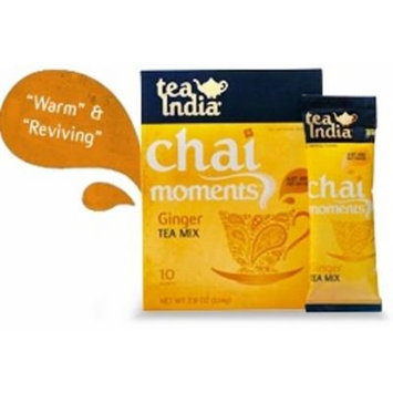 Tea India Ginger Tea Mix - Chai Moments Ginger Tea 10 Instant Tea Packets