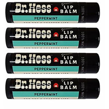 Dr Hess All Natural Lip Balm, Peppermint, 4 Count