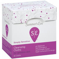 Summer's Eve Cleansing Cloth Simply Sensitive, 16 Count (Pack of 4)