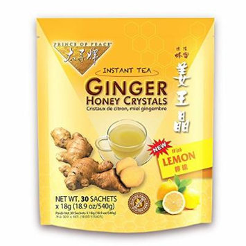 Prince of Peace® Instant Lemon Ginger Honey Crystals (30 Sachets)