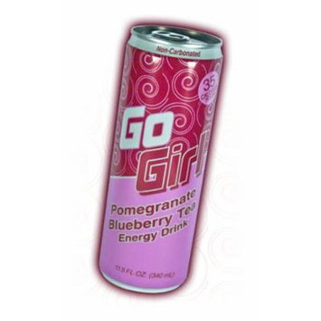 9 Pack - Go Girl - Pom Berry Tea Energy Drink - 11.5oz.