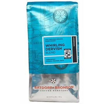 Batdorf & Bronson Coffee Roasters - Organic Whirling Dervish Blend - Roasted Whole Bean Coffee - (16oz)