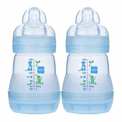 MAM Anti-Colic Bottle, Blue, 5 Ounce, 2Pack