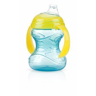Nuby No-Spill Clik-It Cup with 2 Handle, 4 Months Plus, Aqua