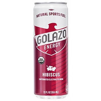 Golazo Organic Caffeinated Electrolyte Drink, Hibiscus, 12 Ounce (Pack of 24)