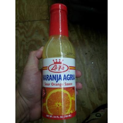 La Fe, Sour Orange Marinade Naranja Agria 24 Oz Plastic Bottle Safe