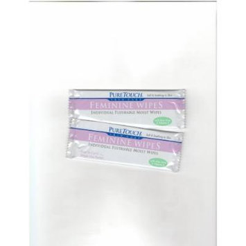 PureTouch Feminine Wipes Individual Flushable Moist Wipes BULK 350 Single-Use-Packets