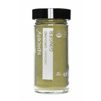 Spicely Organic Ginger Ground - Glass Jar - Gluten Free - Non GMO - Vegan - Kosher