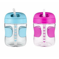 OXO Tot 7 oz Straw Cup, 2 Pack - Aqua/Pink