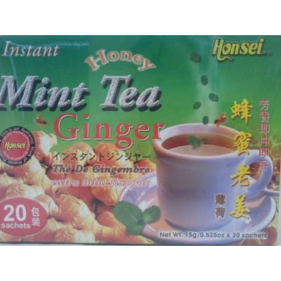 Honsei Instant MINT Ginger Honey Tea (20 Sachets) 15 G/0.525oz - Product of Singapore